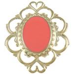 Iron Mbulim Gjuhësh, Hekur, Lule, sythe multi & smalt, i kuq, , nikel çojë \x26amp; kadmium falas, 42.50x51x1mm, 200PC/Qese,  Qese
