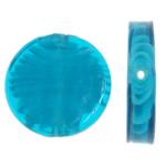 Innerer Twist Lampwork Perlen, flache Runde, 28x28x6mm, Bohrung:ca. 1.5mm, 100PCs/Tasche, verkauft von Tasche