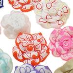 Beads polimer balta, Polymer Clay, Lule, asnjë, ngjyra të përziera, 14x9-21x12mm, : 1-2mm, 100PC/Qese,  Qese