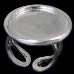 Bezel Brass Ring Base, Tunxh, Ngjyra argjend praruar, asnjë, , nikel çojë \x26amp; kadmium falas, 26x26mm, 20.8x20.8mm, 18mm, : 20.8mm, :8, 20PC/Qese,  Qese
