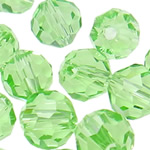 Swarovski Crystal Beads, Round, Peridot, 6mm, : 1mm, 50PC/Qese,  Qese