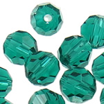 Swarovski Crystal Beads, Round, Smerald, 6mm, : 1mm, 50PC/Qese,  Qese