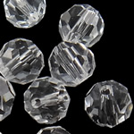 Swarovski Crystal Beads, Round, Kristal, 6mm, : 1mm, 50PC/Qese,  Qese