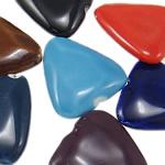 Beads xham porcelani, Romb, xham, ngjyra të përziera, 28x30.50x8mm, : 2mm, 50PC/Qese,  Qese