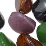 Beads xham porcelani, Kthesë, xham, ngjyra të përziera, 30-34.5mm, : 3-4mm, 35PC/Qese,  Qese