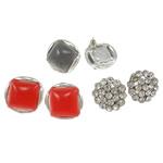 Vath Rrëshirë, Alloy zink, with Diamant i rremë & Rrëshirë, Shape Tjera, asnjë, i përzier, asnjë, , nikel çojë \x26amp; kadmium falas, 18-20.5mm, 4Çiftet/Shumë,  Shumë