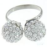 Ring Finger bizhuteri, Tunxh, me diamant i rremë, 3mm, 11mm, :8, 10PC/Qese,  Qese