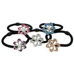 Bisht mbajtës, Alloy zink, Lule, me diamant i rremë, 27x24x12.50mm, :6Inç, 24PC/Kuti,  Kuti