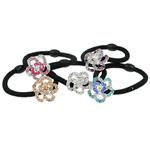 Bisht mbajtës, Alloy zink, Lule, me diamant i rremë, 23.50x11.50mm, :6Inç, 24PC/Kuti,  Kuti
