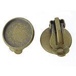 Clip tunxh Në Vath Finding, Ngjyra antike bronz i praruar, asnjë, , nikel çojë \x26amp; kadmium falas, 12x12x2mm, 10x10mm, 300PC/Qese,  Qese