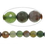 Natürliche Indian Achat Perlen, Indischer Achat, rund, facettierte, 8mm, Bohrung:ca. 1mm, Länge:ca. 15 ZollInch, 10SträngeStrang/Menge, ca. 47PCs/Strang, verkauft von Menge