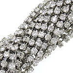 Litar Zinxhiri tunxh, i praruar, me diamant i rremë, ngjyrë platin, , nikel çojë \x26amp; kadmium falas, 2mm, :110Oborr,  Shumë