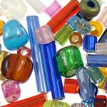 Seed Glass Beads përziera, i përzier, 1.9-35mm, : 1-2mm,  Qese