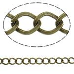 Stainless Steel Eyepins, Hekur, Romb, Ngjyra antike bronz i praruar, asnjë, , nikel çojë \x26amp; kadmium falas, 7.10x9.10x1.30mm, :25m,  PC