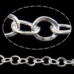 Zinxhiri Iron Oval, Hekur, Ngjyra argjend praruar, asnjë, , nikel çojë \x26amp; kadmium falas, 7.60x8.80x1.60mm, :25m,  PC