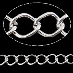 Stainless Steel Eyepins, Hekur, Romb, Ngjyra argjend praruar, asnjë, , nikel çojë \x26amp; kadmium falas, 9.70x1.40x7mm, :25m,  PC