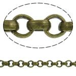Hekuri Zinxhiri Rolo, Ngjyra antike bronz i praruar, asnjë, , nikel çojë \x26amp; kadmium falas, 2x0.70mm, :100m,  PC