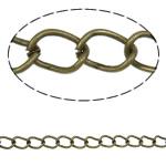 Twist Hekuri Oval Zinxhiri, Ngjyra antike bronz i praruar, asnjë, , nikel çojë \x26amp; kadmium falas, 5.50x4x0.70mm, :100m,  PC