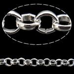 Hekuri Zinxhiri Rolo, Ngjyra argjend praruar, asnjë, , nikel çojë \x26amp; kadmium falas, 3.20x0.90mm, :100m,  PC