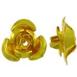 Beads bizhuteri alumini, Lule, pikturë, ar, 12x11.50x6mm, : 1.3mm, 950PC/Qese,  Qese