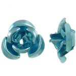 Beads bizhuteri alumini, Lule, pikturë, dritë blu, 6x7x4mm, : 1mm, 950PC/Qese,  Qese
