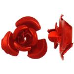 Beads bizhuteri alumini, Lule, pikturë, i kuq, 6x7x4mm, : 1mm, 950PC/Qese,  Qese