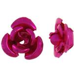 Beads bizhuteri alumini, Lule, pikturë, Pink fuchsia, 6x7x4mm, : 1mm, 950PC/Qese,  Qese