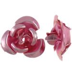 Beads bizhuteri alumini, Lule, pikturë, rozë, 8x8.50x5mm, : 1.1mm, 950PC/Qese,  Qese