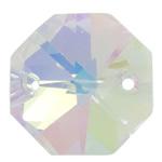 Swarovski Crystal Connector, Shumëkëndësh, 14x14x8mm, : 2mm,  PC