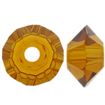 Swarovski Crystal Beads, Bicone, Topaz, 3.50x6mm, : 1mm, 50PC/Qese,  Qese