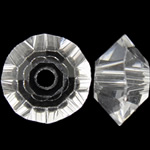 Swarovski Crystal Beads, Bicone, Kristal, 3.50x6mm, : 1mm, 50PC/Qese,  Qese