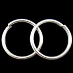 Iron Mbyllur Ring Jump, Hekur, Petull e ëmbël në formë gjevreku, Ngjyra argjend praruar, asnjë, , nikel çojë \x26amp; kadmium falas, 0.90x10mm, : 8.5mm, 7140PC/Qese,  Qese