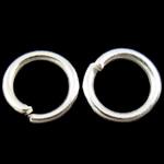 Iron Mbyllur Ring Jump, Hekur, Petull e ëmbël në formë gjevreku, Ngjyra argjend praruar, asnjë, , nikel çojë \x26amp; kadmium falas, 1x6mm, : 4mm, 11110PC/Qese,  Qese