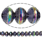 Imitim Swarovski Crystal Beads, Kristal, Rondelle, colorful kromuar, faceted & imitim kristal Swarovski, asnjë, 12x8.50mm, : 1.8mm, :11Inç, 32PC/Fije floku,  11Inç,