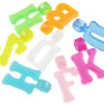 Pendants plastike, ngjyra të përziera, 17x9.50x5mm, : 2.7mm, 2700PC/Qese,  Qese