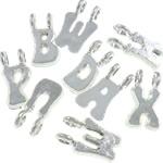 Kunststoff Anhänger, Silberfarbe, 15x7.50x4.50mm, Bohrung:ca. 2.7mm, 3200PCs/Tasche, verkauft von Tasche
