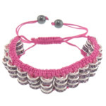 Tunxh Shamballa Bracelets, with Jo-magnetike kuqe e mbylltë, Shape Tjera, me diamant i rremë, , nikel çojë \x26amp; kadmium falas, 18mm, 8mm, :6-11Inç, 10Fillesat/Shumë,  Shumë