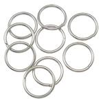 Iron Mbyllur Ring Jump, Hekur, Petull e ëmbël në formë gjevreku, ngjyrë platin praruar, asnjë, , nikel çojë \x26amp; kadmium falas, 0.90x9mm, : 7.5mm, 7350PC/Qese,  Qese