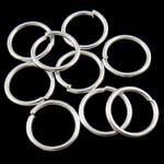 Iron Mbyllur Ring Jump, Hekur, Petull e ëmbël në formë gjevreku, Ngjyra argjend praruar, asnjë, , nikel çojë \x26amp; kadmium falas, 1.20x12mm, : 9.6mm, 3330PC/Qese,  Qese