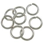 Iron Mbyllur Ring Jump, Hekur, Petull e ëmbël në formë gjevreku, ngjyrë platin praruar, asnjë, , nikel çojë \x26amp; kadmium falas, 1.20x8mm, : 5.8mm, 5000PC/Qese,  Qese