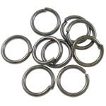 Iron Mbyllur Ring Jump, Hekur, Petull e ëmbël në formë gjevreku, plumbit ngjyrë të zezë praruar, asnjë, , nikel çojë \x26amp; kadmium falas, 0.80x6mm, : 4.7mm, 15380PC/Qese,  Qese