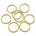 Iron Mbyllur Ring Jump, Hekur, Petull e ëmbël në formë gjevreku, ngjyrë ari praruar, asnjë, , nikel çojë \x26amp; kadmium falas, 0.90x8mm, : 4.4mm, 8690PC/Qese,  Qese