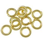 Iron Mbyllur Ring Jump, Hekur, Petull e ëmbël në formë gjevreku, ngjyrë ari praruar, asnjë, , nikel çojë \x26amp; kadmium falas, 1.20x6mm, : 3.5mm, 7350PC/Qese,  Qese