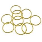 Iron Mbyllur Ring Jump, Hekur, Petull e ëmbël në formë gjevreku, ngjyrë ari praruar, asnjë, , nikel çojë \x26amp; kadmium falas, 0.90x10mm, : 8.5mm, 7270PC/Qese,  Qese