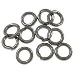 Iron Mbyllur Ring Jump, Hekur, Petull e ëmbël në formë gjevreku, plumbit ngjyrë të zezë praruar, asnjë, , nikel çojë \x26amp; kadmium falas, 1x5mm, : 3.5mm, 14900PC/Qese,  Qese