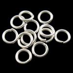 Iron Mbyllur Ring Jump, Hekur, Petull e ëmbël në formë gjevreku, Ngjyra argjend praruar, asnjë, , nikel çojë \x26amp; kadmium falas, 0.70x4mm, : 2.9mm, 33300PC/Qese,  Qese