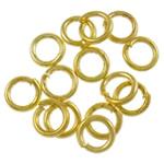 Iron Mbyllur Ring Jump, Hekur, Petull e ëmbël në formë gjevreku, ngjyrë ari praruar, asnjë, , nikel çojë \x26amp; kadmium falas, 0.70x4mm, : 2.9mm, 33300PC/Qese,  Qese