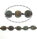 Natyrore kërcitje Beads Zjarri agat, YouTube Fire agat, Daulle, natyror, 15.50x14.50mm, : 2mm, : 17Inç, 5Fillesat/Shumë,  Shumë
