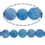 Natürliche Eis Quarz Achat Perlen, Eisquarz Achat, rund, 12mm, Bohrung:ca. 1mm, Länge:ca. 16 ZollInch, 5SträngeStrang/Menge, verkauft von Menge