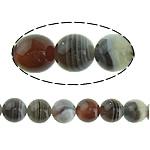 Botswana agat Natyrore Beads, Round, 10mm, : 1mm, : 16Inç, 2Fillesat/Shumë,  Shumë